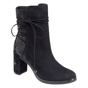 Johnston & Murphy ADLEY BOOT Black Suede Size 8